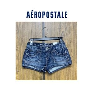 NEW Aeropostale Heavy Stitch Denim Jean Shorts